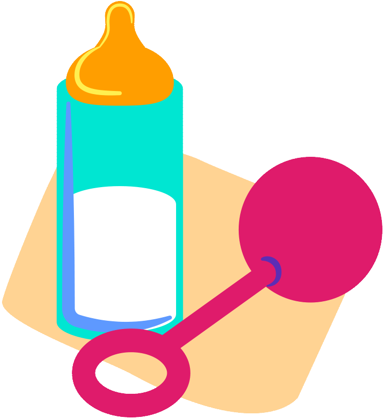 Baby bottle illustration