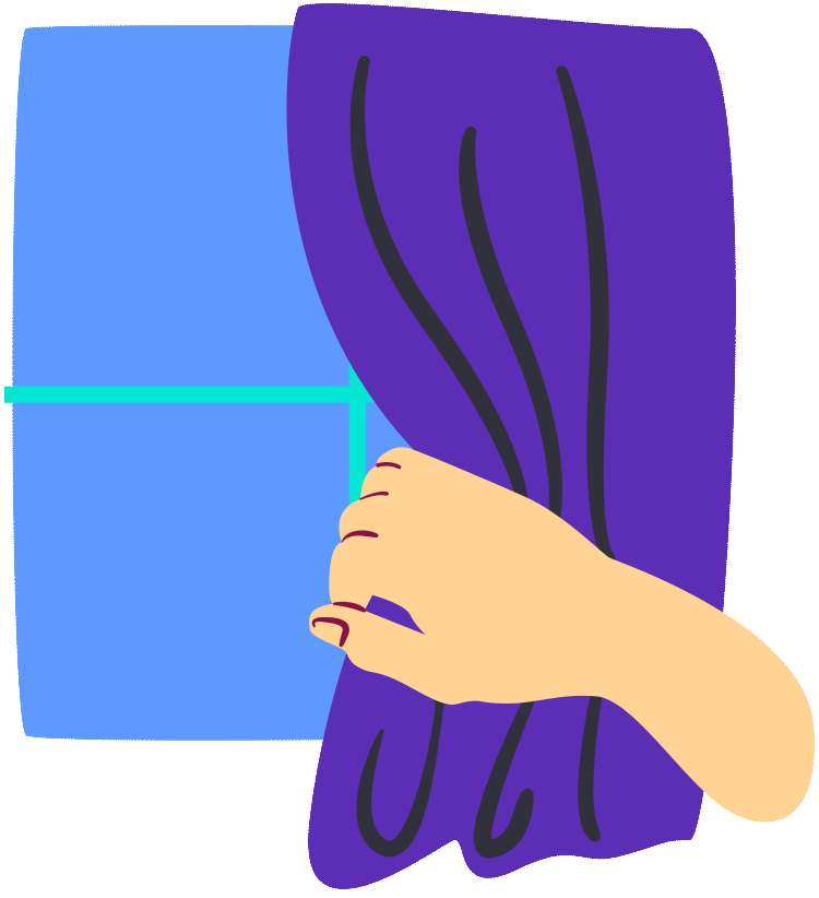 Curtains illustration