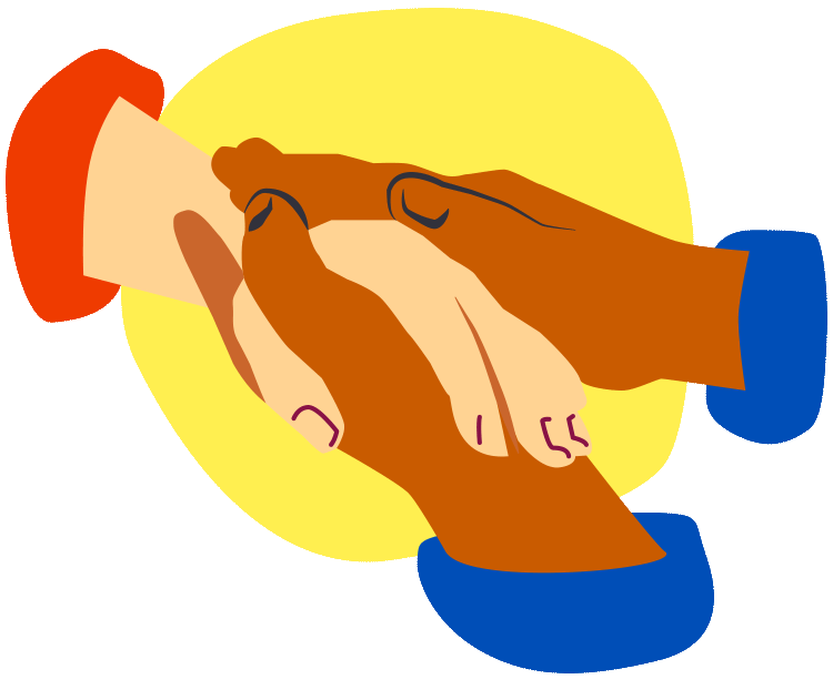 Holding hands illustration