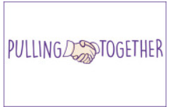Pulling together logo